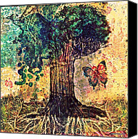 Insect Symbolism Canvas Prints - Symbolically Solid Tree Canvas Print by Paulo Zerbato