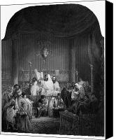 Rabbi Canvas Prints - SYNAGOGUE, 19th CENTURY Canvas Print by Granger