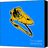 T Rex Canvas Prints - T-Rex Graphic Canvas Print by Pixel  Chimp