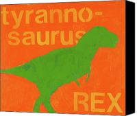 T Rex Canvas Prints - T Rex Canvas Print by Laurie Breen