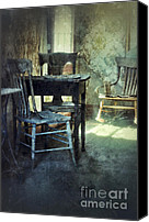 Haunted House Canvas Prints - Table and Chairs Canvas Print by Jill Battaglia