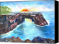 Carlin Blahnik Painting Canvas Prints - Taga Arch Savaii Samoa Canvas Print by Carlin Blahnik