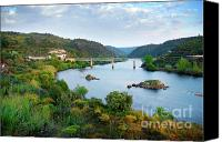 Old Houses Canvas Prints - Tagus Landscape Canvas Print by Carlos Caetano