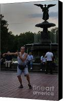 Bethesda Fountain Canvas Prints - Tai Chi in the Park Canvas Print by Lee Dos Santos