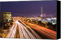 Long Street Canvas Prints - Taipei Light Trails At Night Canvas Print by © copyright 2011 Sharleen Chao