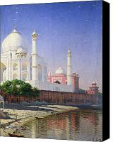 Moonlit Painting Canvas Prints - Taj Mahal Canvas Print by Vasili Vasilievich Vereshchagin