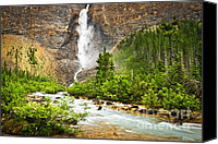 Outdoor Canvas Prints - Takakkaw Falls waterfall in Yoho National Park Canada Canvas Print by Elena Elisseeva