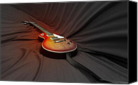 Epiphone Canvas Prints - Taking a Break from my Hands Canvas Print by Steven  Digman