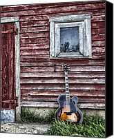 Gibson Guitar Canvas Prints - Taking A Break Canvas Print by Lauri Novak