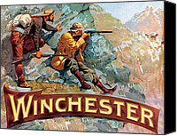 Winchester Canvas Prints - Taking Aim Canvas Print by Fredrick Remington