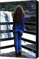 Blue Jeans Canvas Prints - Taking in the View Canvas Print by Thomas R Fletcher