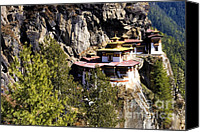 Cliff Canvas Prints - Taktsang Monastery  Canvas Print by Fabrizio Troiani