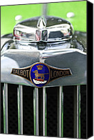 Lago Canvas Prints - Talbot-Lago Grille Emblem Canvas Print by Jill Reger