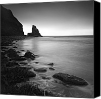 Fine Art Photo Canvas Prints - Talisker Rock Canvas Print by Nina Papiorek