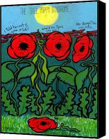 Lyon Canvas Prints - Tall Poppy Syndrome Canvas Print by Angela Treat Lyon