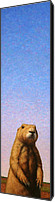 Skyscape Canvas Prints - Tall Prairie Dog Canvas Print by James W Johnson