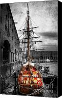 Liverpool England Canvas Prints - Tall Ship At Liverpool Canvas Print by Yhun Suarez