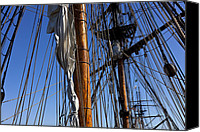 Flags Canvas Prints - Tall ship rigging Lady Washington Canvas Print by Garry Gay
