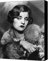 Hairstyle Canvas Prints - Tallulah Bankhead Canvas Print by Granger
