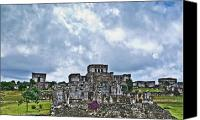 Maya Canvas Prints - Talum Ruins 8 Canvas Print by Douglas Barnett