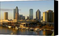 Tampa Canvas Prints - Tampa Bay and Gasparilla Canvas Print by David Lee Thompson
