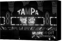 Tampa Canvas Prints - Tampa Theatre 1939 Canvas Print by David Lee Thompson