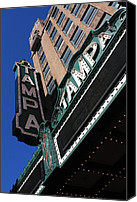 Tampa Canvas Prints - Tampa Theatre  Canvas Print by Carol Groenen