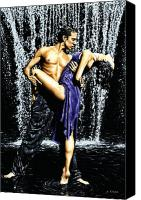 Dancers Canvas Prints - Tango Cascade Canvas Print by Richard Young