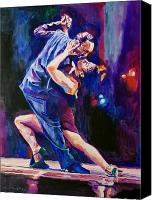 Tango Canvas Prints - Tango Romantico Canvas Print by David Lloyd Glover