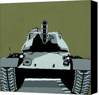 Iraq Canvas Prints - Tank U Very Much 2 Canvas Print by Slade Roberts