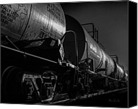 Boogie Canvas Prints - Tanker Cars Canvas Print by Bob Orsillo
