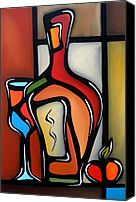 Oil Wine Canvas Prints - Tannins by Fidostudio Canvas Print by Tom Fedro - Fidostudio