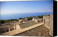 Taormina Canvas Prints - Taormina Rooftops Canvas Print by Madeline Ellis