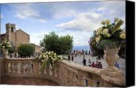 Taormina Canvas Prints - Taormina Square Canvas Print by Madeline Ellis