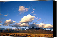 Sangre De Cristo Mountains Canvas Prints - Taos Mountain Sunset Canvas Print by Troy Montemayor