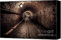 Lights Digital Art Canvas Prints - Tar Tunnel 1787 Canvas Print by Adrian Evans
