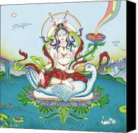 Tantrayana Canvas Prints - Tara Protecting against Poisons and Naga-related diseases Canvas Print by Carmen Mensink