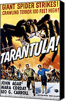 1950s Poster Art Canvas Prints - Tarantula, John Agar, Mara Corday, 1955 Canvas Print by Everett