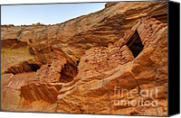 Indian Ruins Canvas Prints - Target - Bulls Eye Anasazi Indian Ruins Canvas Print by Gary Whitton