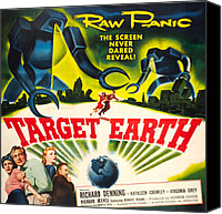 1950s Poster Art Canvas Prints - Target Earth, Bottom Left Kathleen Canvas Print by Everett