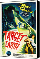 1950s Poster Art Canvas Prints - Target Earth, Bottom Right Richard Canvas Print by Everett