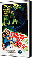 1950s Poster Art Canvas Prints - Target Earth,  From Left Kathleen Canvas Print by Everett
