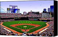 Homerun Canvas Prints - Target Field Canvas Print by Lyle  Huisken