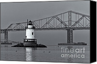 Sleepy Hollow Canvas Prints - Tarrytown Lighthouse and Tappan Zee Bridge VIII Canvas Print by Clarence Holmes