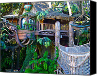 Disneyland Canvas Prints - Tarzan Treehouse Canvas Print by Karon Melillo DeVega