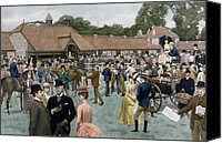 Isaac Canvas Prints - Tattersalls Newmarket pub Canvas Print by Isaac J Cullin and I P Mendoza