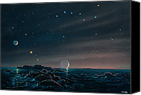 Planetary Canvas Prints - Tau Ceti Planetary System Canvas Print by Chris Butler