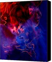 Abstract Expressionist Mixed Media Canvas Prints - Taurus Canvas Print by Terril Heilman