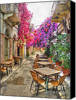 Tables Canvas Prints - Tavern in Bloom Canvas Print by Michael Garyet