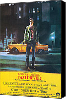 Robert Deniro Canvas Prints - Taxi Driver - Robert De Niro Canvas Print by Nomad Art and  Design